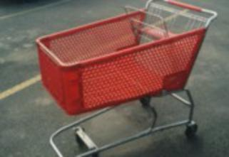 shopping cart in parking lot